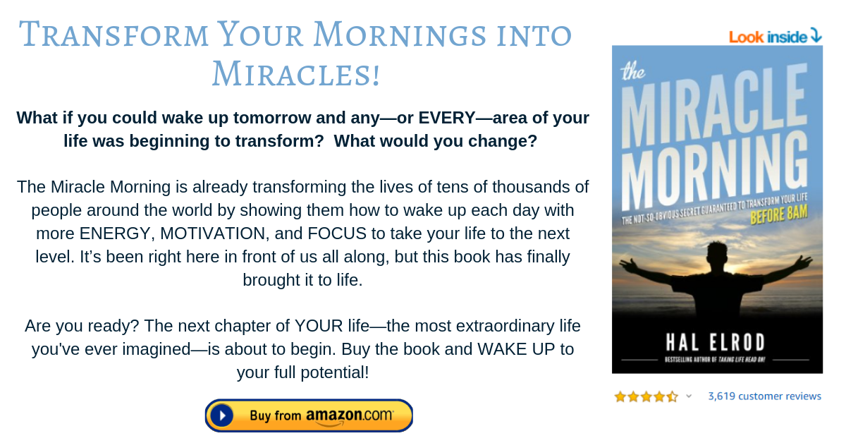 The Miracle Morning ad footnote