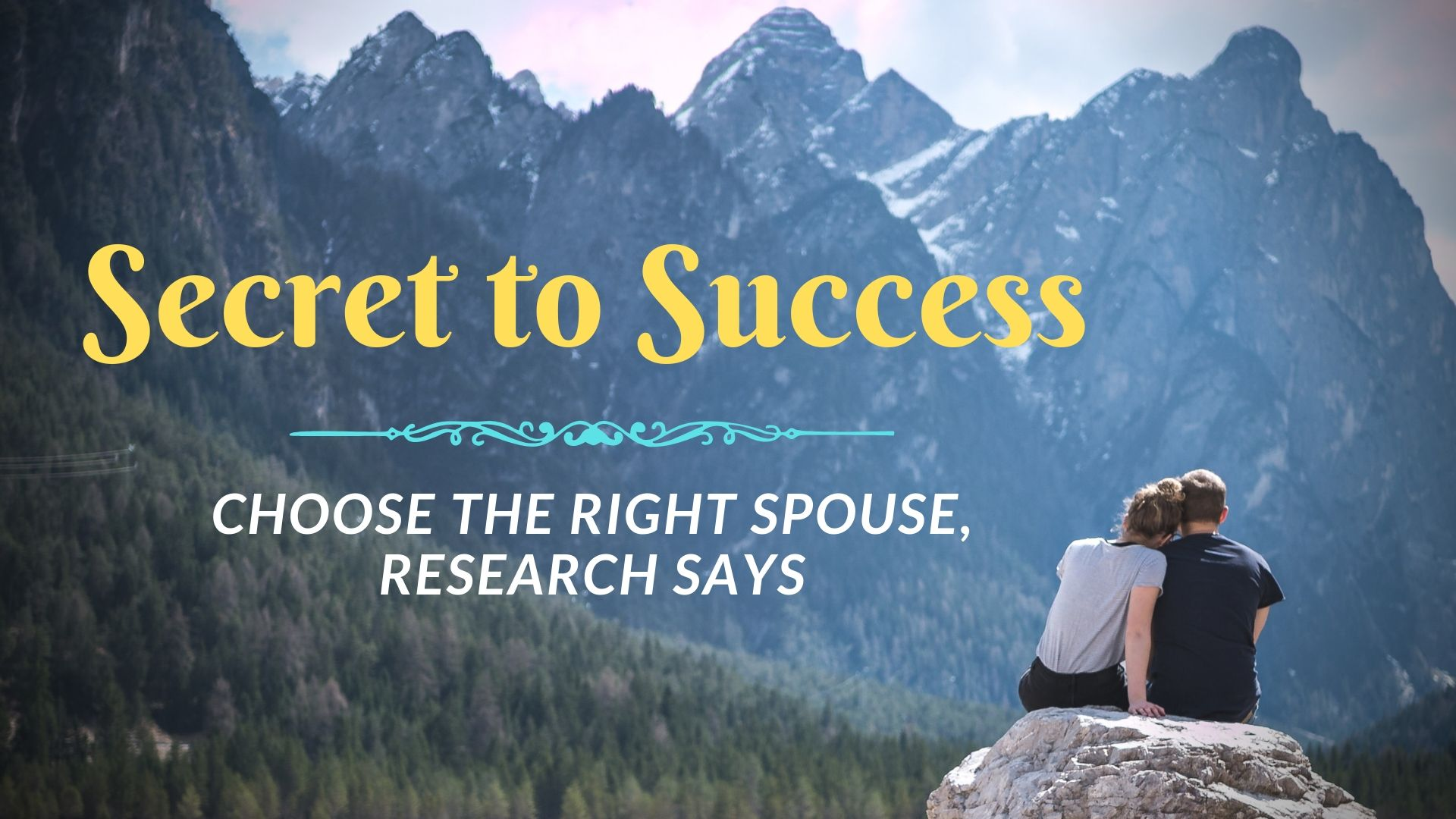 Research shows that the secret to success is having a supportive spouse